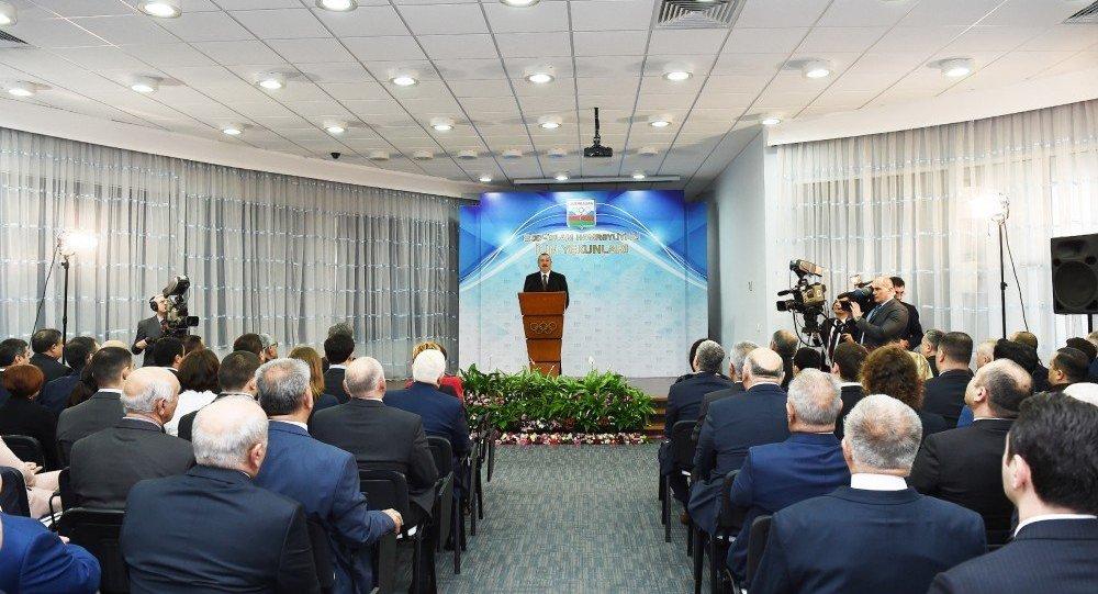 Azərbaycan Prezidenti İlham Əliyev 2017-ci ilin idman yekunlarına həsr olunan mərasimdə iştirak edib