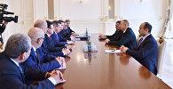 Ильхам Алиев принял делегацию во главе с губернатором Астраханской области России