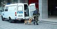 Поиски взрывного устройства на Бакинском железнодорожном вокзале