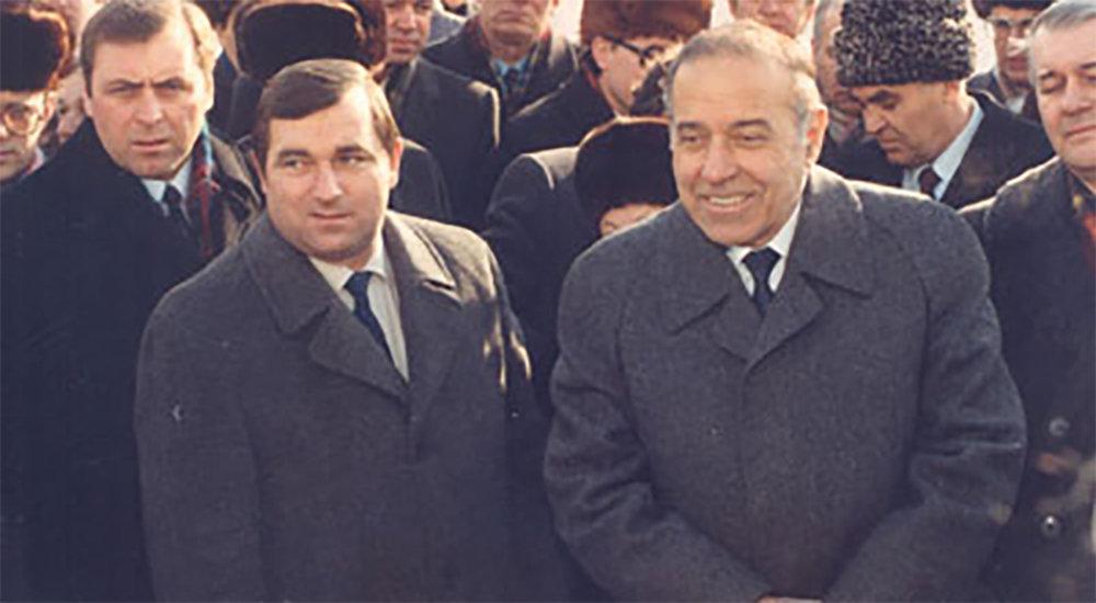 Александр Алексеевич Иванов и Гейдар Алиев