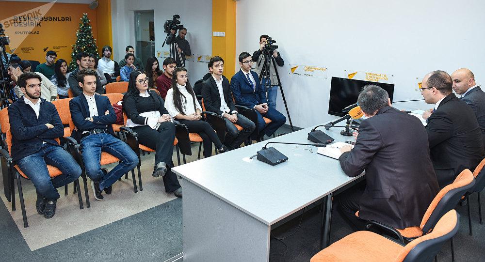 Мероприятие в мультимедийном пресс-центре Sputnik Азербайджан, архивное фото