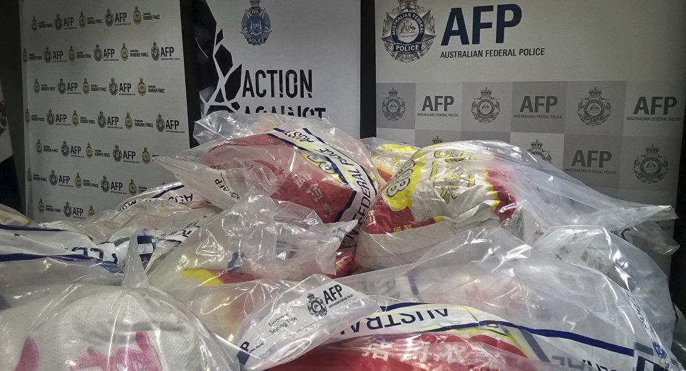 Полицейские изъяли вАвстралии крупнейшую вистории страны партию метамфетамина