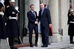 Rəcəb Tayyib Ərdoğan və Emmanuel Makron, Paris, 5 dekabr 2017-ci il