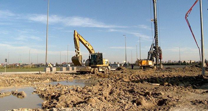 Строительство автомобильного тоннеля на проспекте Гейдара Алиева