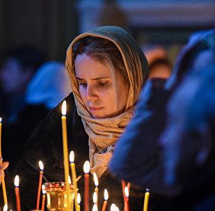 Рождественское богослужение в Кафедральном соборе Жен Мироносиц в Баку