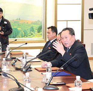 Встреча делегаций Северной и Южной Кореи, деревня Пханмунджом, 9 января 2018 года