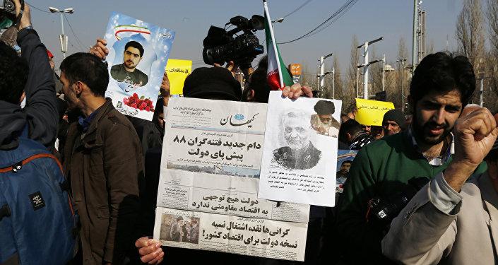 Беспорядки в Иране , фото из архива