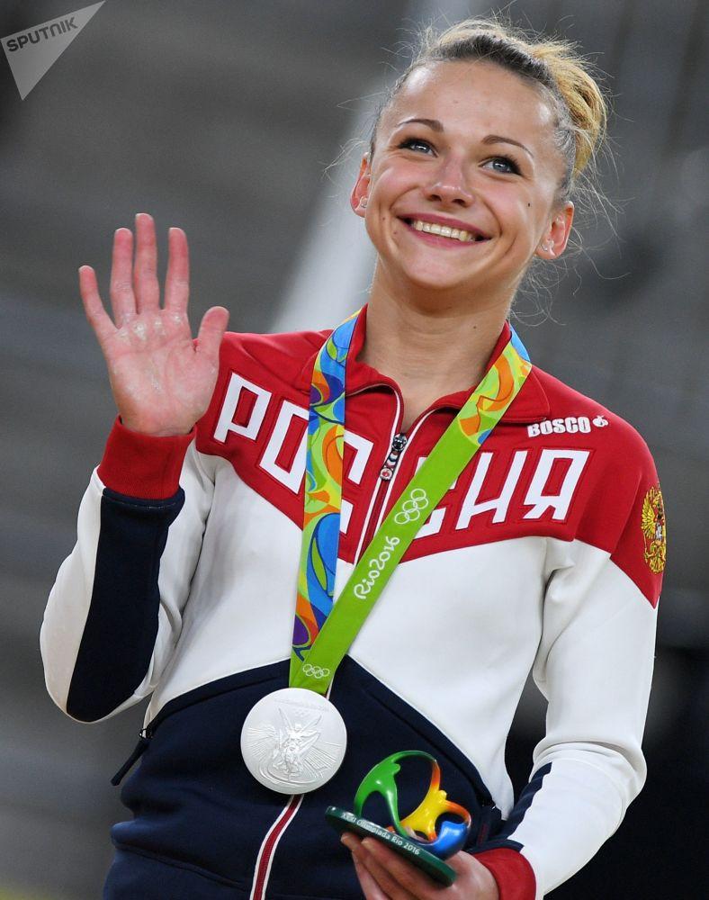Российская гимнастка Мария Пасека