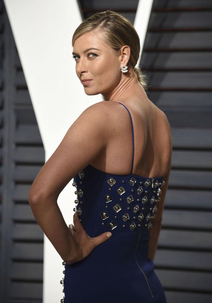 Теннисистка Мария Шарапова на вечеринке Vanity Fair Oscar Party