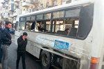 Qəzaya uğramış avtobus