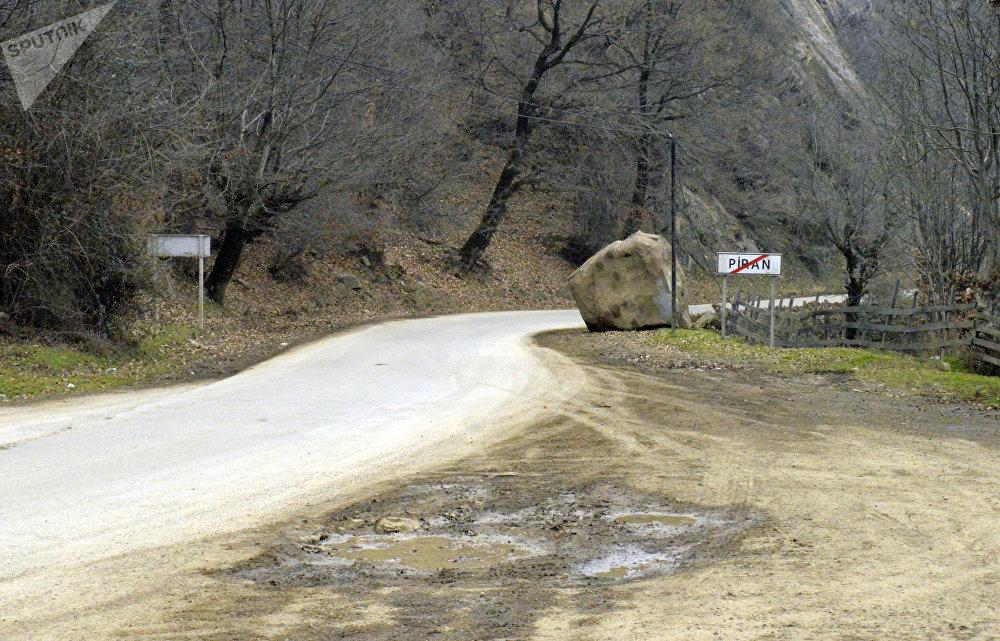 Lənkəran-Lerik yolunun sürüşmə təhlükəsi olan hissəsi
