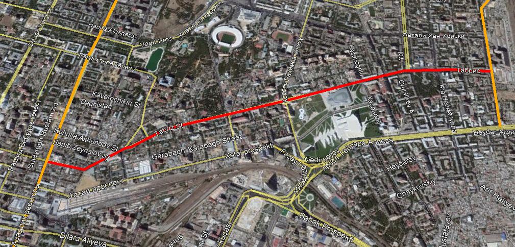 В Баку ограничивается автодвижение на двух улицах