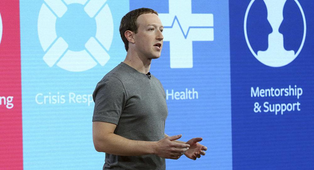 Основатель и главный исполнительный директор Facebook Марк Цукерберг
