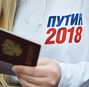 Сбор подписей в Симферополе в поддержку выдвижения В. Путина на президентских выборах