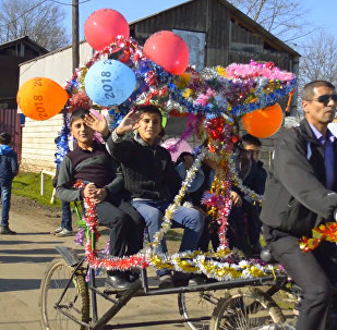 Нескучный велофаэтон изобрел житель Азербайджана