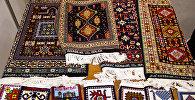 Стенд Азербайджана на выставке Тюбетейка, проходящей в Москве