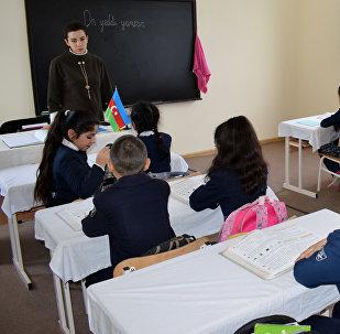 Quba rayonunun Cağacıq kəndində yeni istifadəyə verilmiş modul tipli məktəb