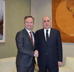 Министр иностранных дел Эльмар Мамедъяров встретился с  Жан-Батистом Лемуан