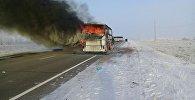 Автобус загорелся в Актюбинской области: погибли 52 человека , фото с места событий