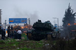 Reyhanlıda türk tankları