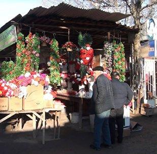 Tovuz rayon bazarındakı gül dükanı