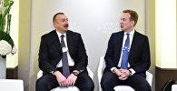 Azərbaycan Prezidenti İlham Əliyevin Davosda Dünya İqtisadi Forumunun prezidenti ilə görüşü
