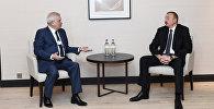 """Prezident İlham Əliyevin Davosda """"LUKOİL"""" şirkətinin prezidenti ilə görüşü olub"""