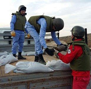 Операция по обезвреживанию снарядов на территории поселка Г.З.Тагиева в Сумгайыте