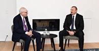 """İlham Əliyevin Davosda ABŞ-ın """"Carlyle Group"""" şirkətinin həmtəsisçisi və icraçı direktoru ilə görüşü olub"""