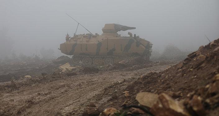 Afrin yaxınlığında türk tankları, 23 yanvar 2018-ci il