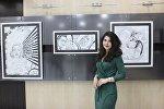 Выставка художницы Нины Наримановой «Баланс белого» в Российском информационно-культурном центре в Баку