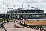 Стадион Санкт-Петербург Арена, на Крестовском острове в Санкт-Петербурге