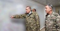 Türkiyə prezidenti Rəcəb Tayyib Ərdoğan Suriya ilə sərhəddəki Hatay vilayətində
