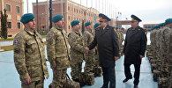 Группа азербайджанских миротворцев вернулась из Афганистана