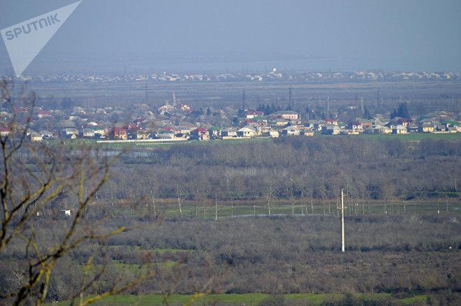 Вид на село Хафтони в Лянкяранском районе