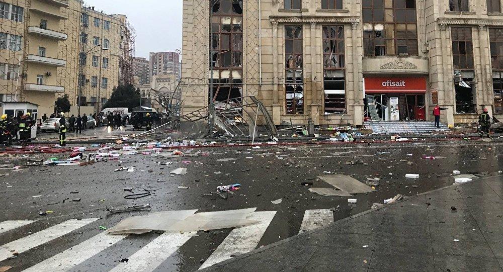 Вцентре Баку вжилом доме произошел взрыв
