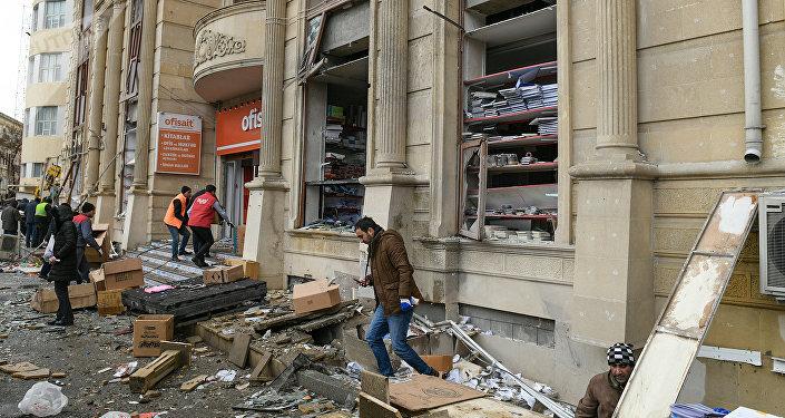 Встолице Азербайджана вжилом доме произошел взрыв