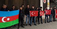 В Грузии азербайджанская молодежь провела акцию в поддержку Турции