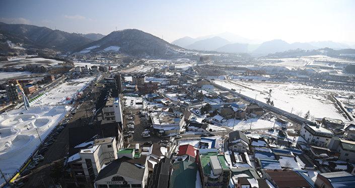 Вид на один из районов в Пхенчхане, фото из архива