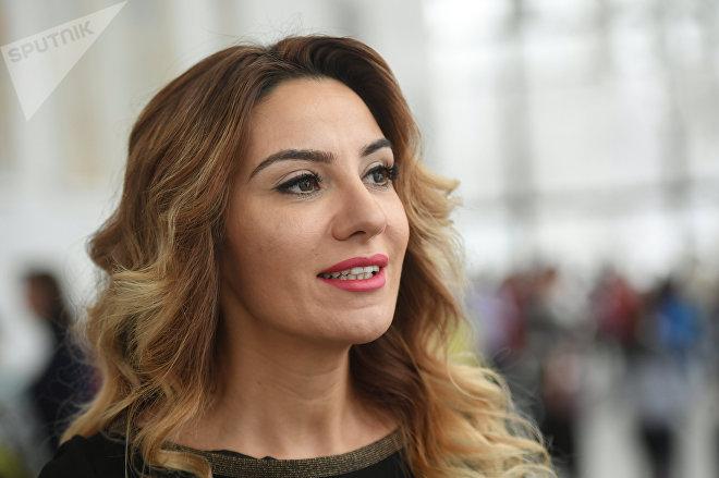 Активист азербайджанской диаспоры Саадат Гараева на мероприятии в рамках Дня азербайджанской культуры в Москве во Дворце пионеров на Воробьевых горах