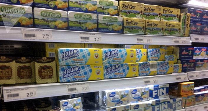Цены на сливочное масло в супермаркетах Баку