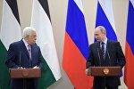 Rusiya prezidenti Vladimir Putin Fələstin rəhbəri Mahmud Abbasla