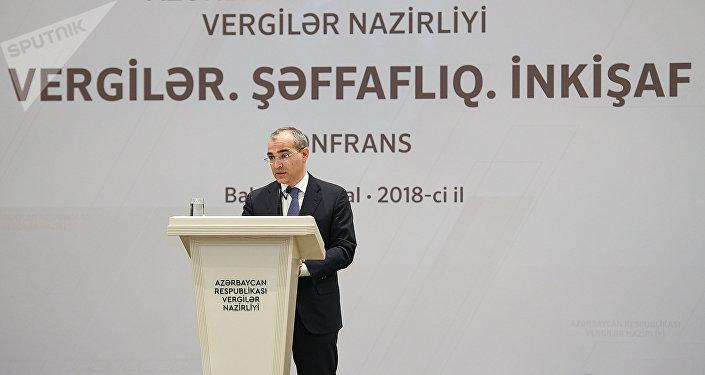 Министр налогов  Азербайджана Микаил Джаббаров на конференции Налоги, прозрачность, развитие
