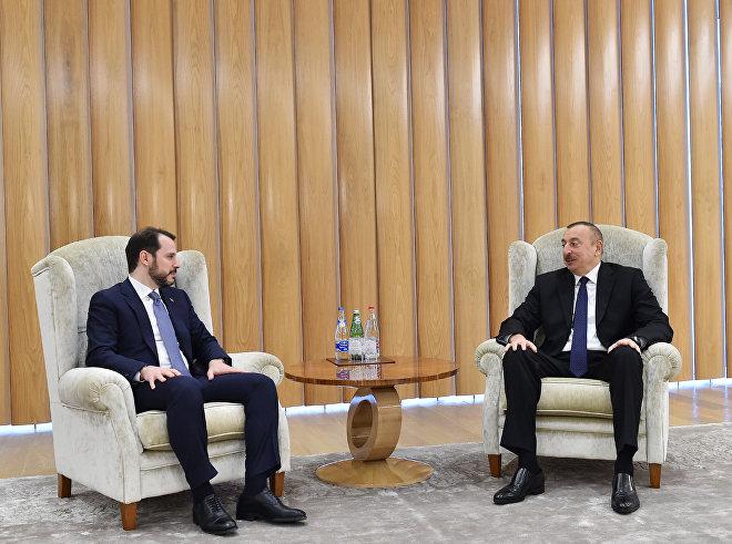 Ильхам Алиев встретился с министром энергетики и природных ресурсов Турции Бератом Албайраком
