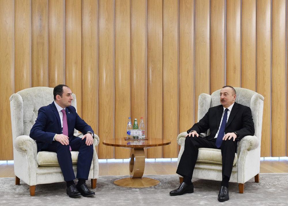 Ильхам Алиев встретился с первым заместителем премьер-министра Грузии, министром экономики и устойчивого развития Дмитрием Кумсишвили