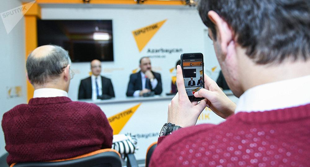 Пресс-конференция на тему Историческое значение туркманчайского мирного договора и его значении в истории современного Азербайджана