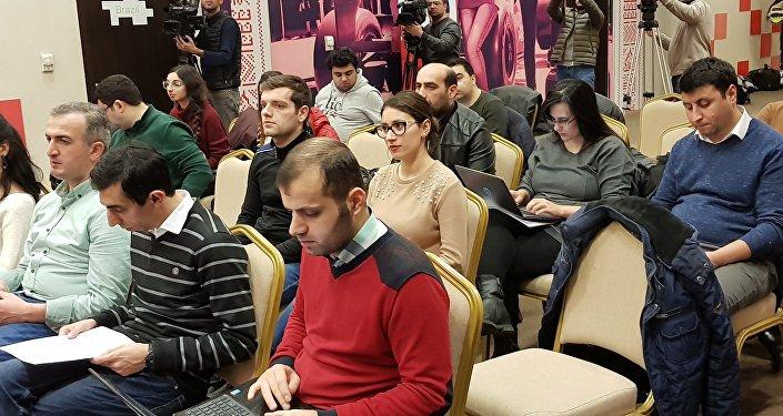 Пресс-конференция операционной компании Baku City Circuit, посвященная проведению Formula-1 в Азербайджане