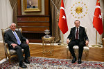 Türkiyə prezidenti Rəcəb Tayyib Ərdoğan və ABŞ dövlət katibi Reks Tillerson