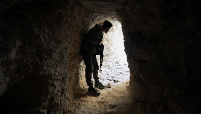 Солдат свободной сирийской армии в Восточном Африне, Сирия, 13 февраля 2018 года