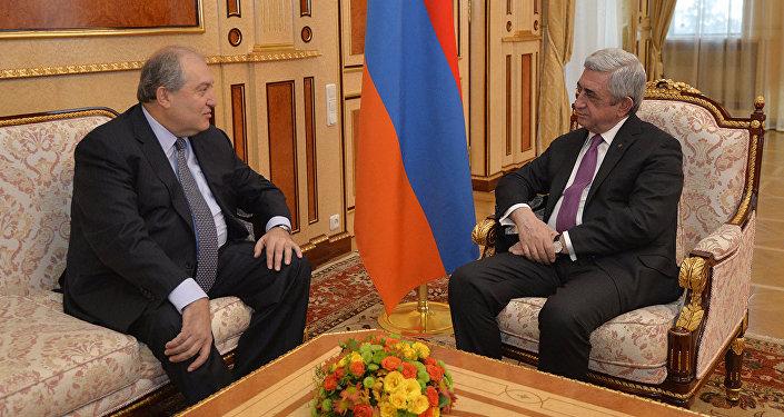 Серж Саргсян и Армен Саркисян, фото из архива